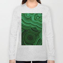 GREEN MALACHITE STONE PATTERN Long Sleeve T-shirt