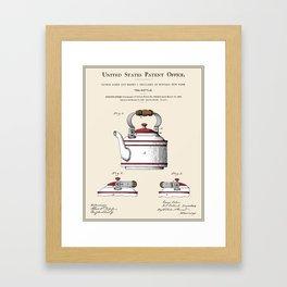 Tea Kettle Patent Framed Art Print