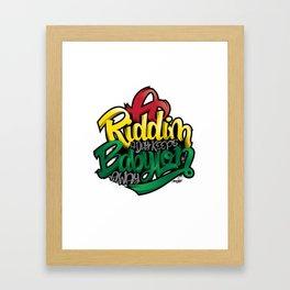 A Riddim a Day Keeps Babylon Away Framed Art Print