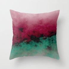 Zero Visibility Poinsettia Ombre Throw Pillow