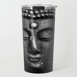 Contemplate - Buddha Black & White Travel Mug
