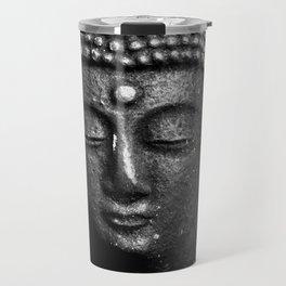 Contemplate - Buddha Black & White Travel Mug