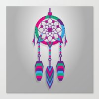 dreamcatcher Canvas Prints featuring Dreamcatcher by Angel Decuir