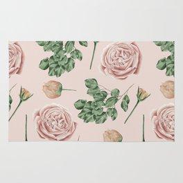 Flower Shop Roses on Blush Pink Rug