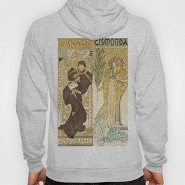 "Alphonse Mucha ""Théâtre de la Renaissance: Lorenzaccio / Gismonda"" Hoody"