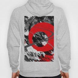 red storm abstract geometric digital art Hoody