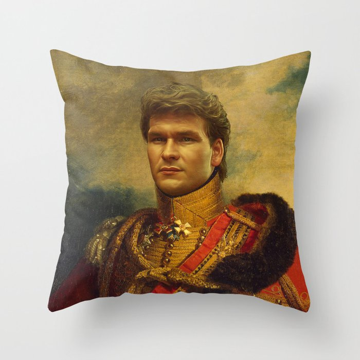 Patrick Swayze - replaceface Throw Pillow