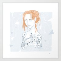 sansa Art Prints featuring Porcelain by laurarts