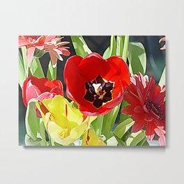 """""""Flower Vase"""" Metal Print"""
