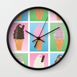 Soft Serve Wall Clock