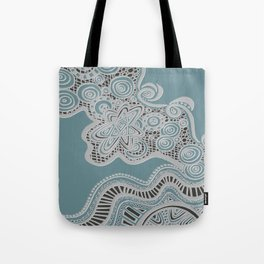 Just a Squiggle Here and There Tote Bag