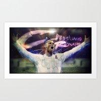 ronaldo Art Prints featuring Cristiano Ronaldo by Adolfo Correa