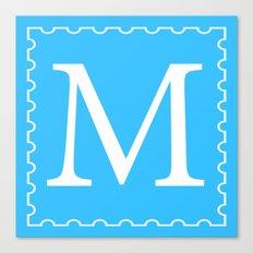 Stamp M;  Canvas Print