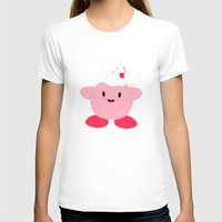 kirby T-shirts featuring Sweet Kirby by dev's shop