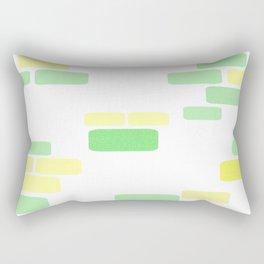 Exposed [pastel] Brick Rectangular Pillow