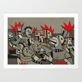 Riot in the Street Art Print