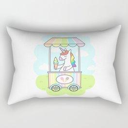 Unicorn Ice Cream Rectangular Pillow