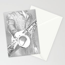 saxophone player... Stationery Cards