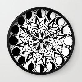 moon phase mandala Wall Clock