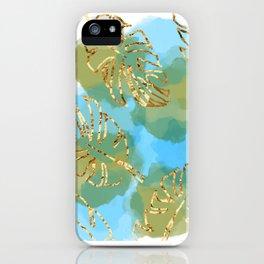 leaf & water scene iPhone Case