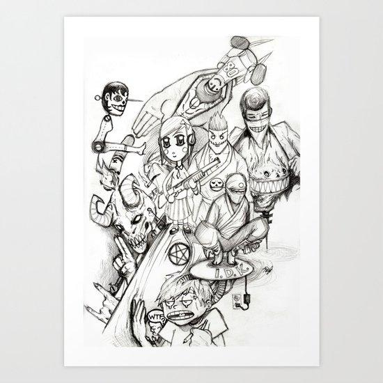 mishmash Art Print