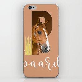 Paard - dierenalfabet iPhone Skin