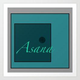 Asana Blue Art Print