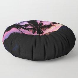 Sunset Palm Trees Floor Pillow