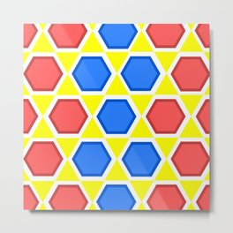 colourful hexagons Metal Print