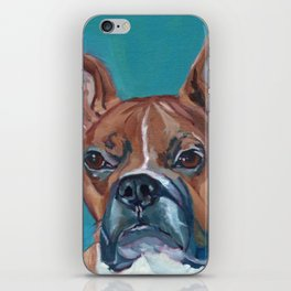 Walker the Boxer Dog Portrait iPhone Skin