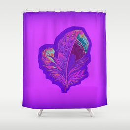 Lee's Purple Feather Shower Curtain