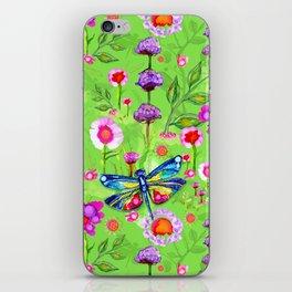 Tropical Dragonfly Garden iPhone Skin
