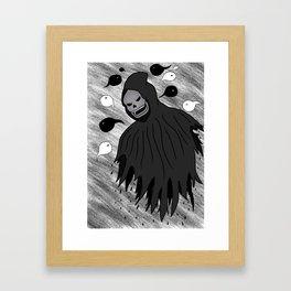 Grim Reaper & Souls Framed Art Print