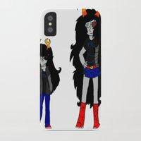 homestuck iPhone & iPod Cases featuring Vriska by Darkerin Drachen