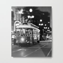 New Orleans Canal Street at Night Metal Print