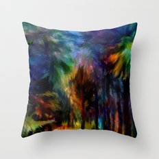 Forêt Nuit Throw Pillow