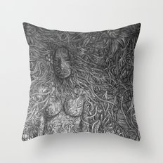 White Midnight Throw Pillow