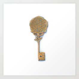 Golden Key of Awakening Art Print