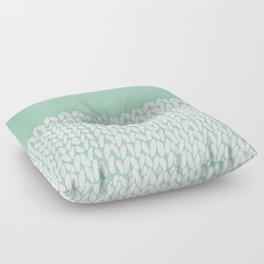 Half Knit Mint Floor Pillow