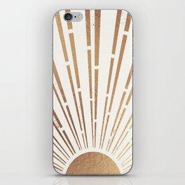 Sun Shines Inside you-Gold Edition iPhone Skin