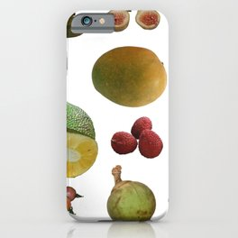 Exotic Fruit Collage iPhone Case