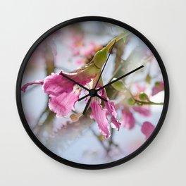 Dreamy Pink Flower Wall Clock