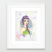 princess Framed Art Prints featuring Princess by Lagoonartastic