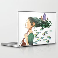 cello Laptop & iPad Skins featuring Sofia (Cello) by Vivian Cheung