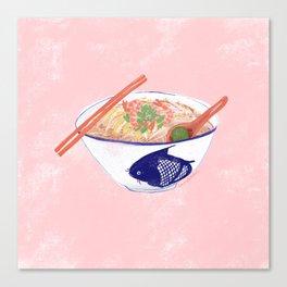 Sarawak Laksa (pink) Canvas Print