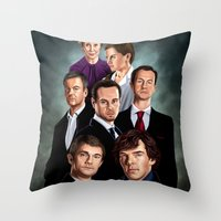 sherlock Throw Pillows featuring Sherlock by tillieke