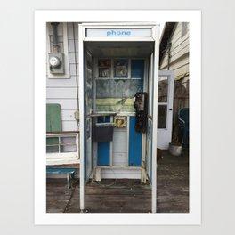 Phone Booth Jimmy Art Print