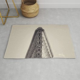 Flatiron Building, original New York photography, skyscrapers, wall decoration, home decor, nyc b&w Rug