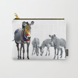 Stand Out Zebra Carry-All Pouch