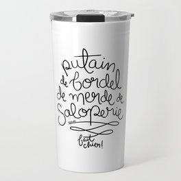 Sacres France - Black Travel Mug